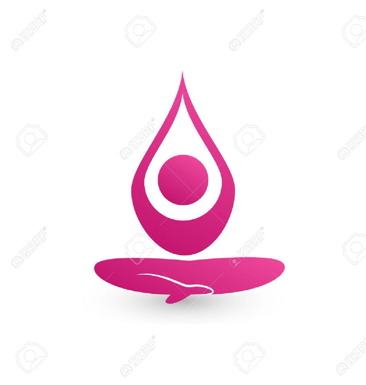 Yoga icon vector Stock Vector - 23321894