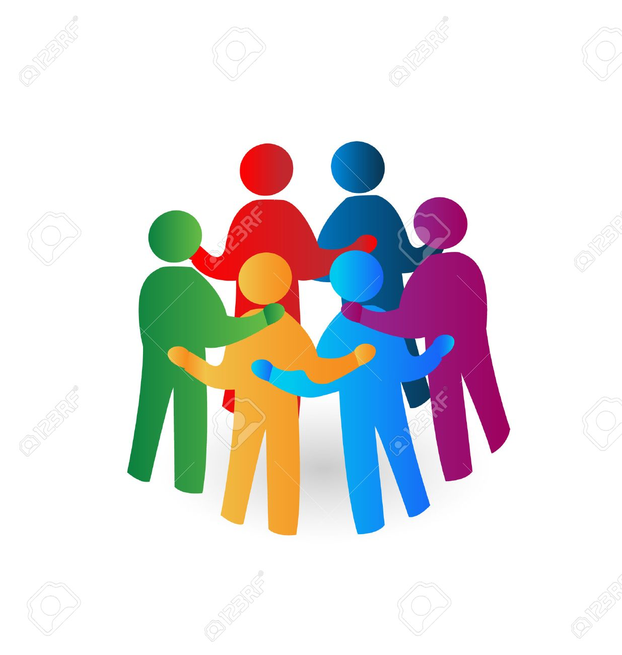 Teamwork meeting people icon vector Stock Vector - 24253917