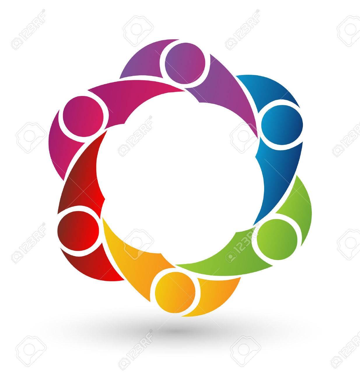 Vector teamwork social media icon - 24800956