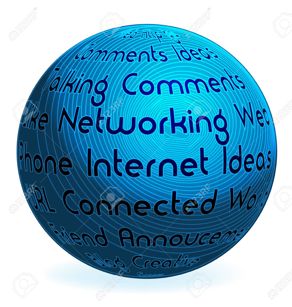 Internet business words vector Stock Vector - 25233112