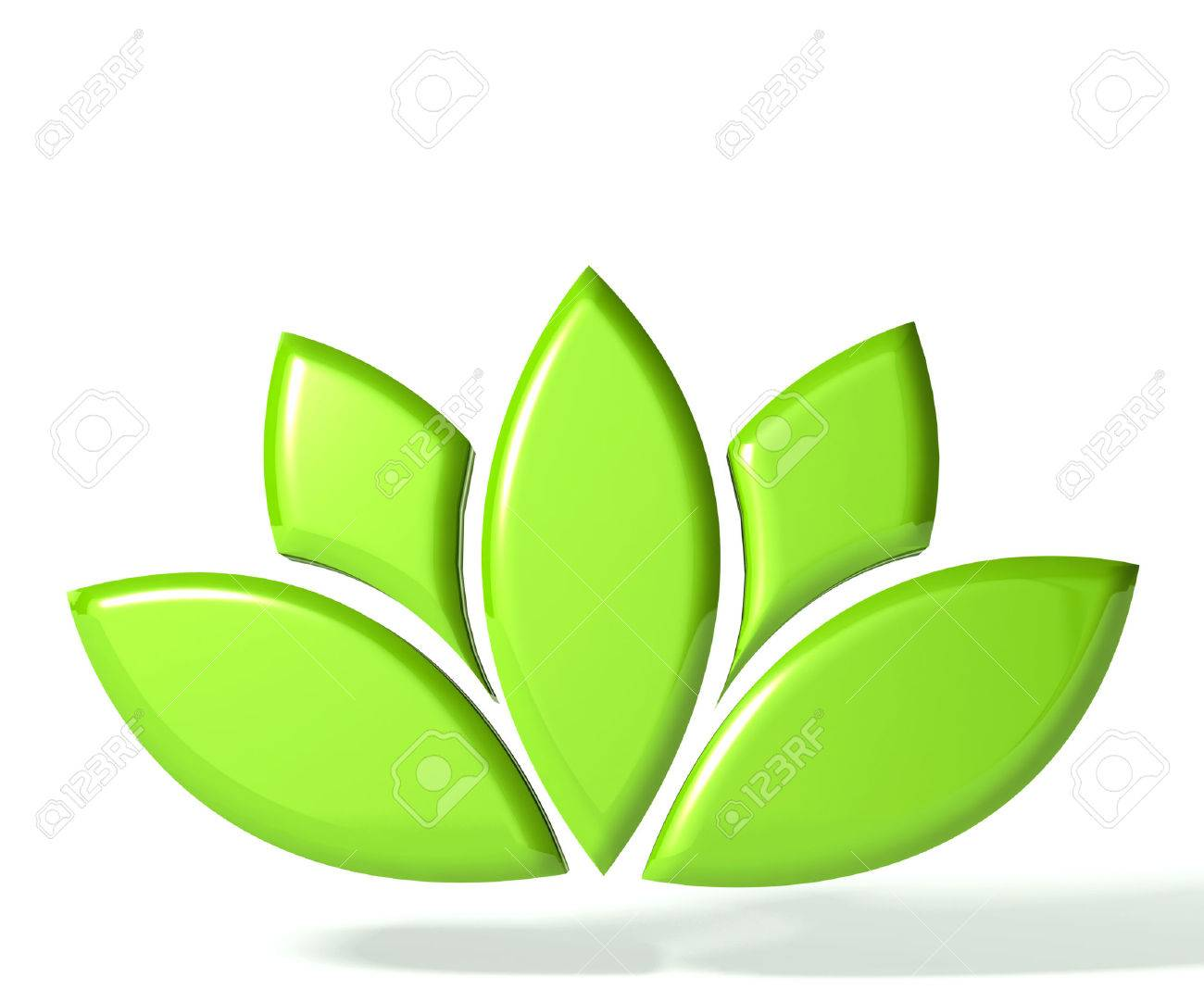 Green Lotus Flower 3d Image Stock Photo Picture And Royalty Free