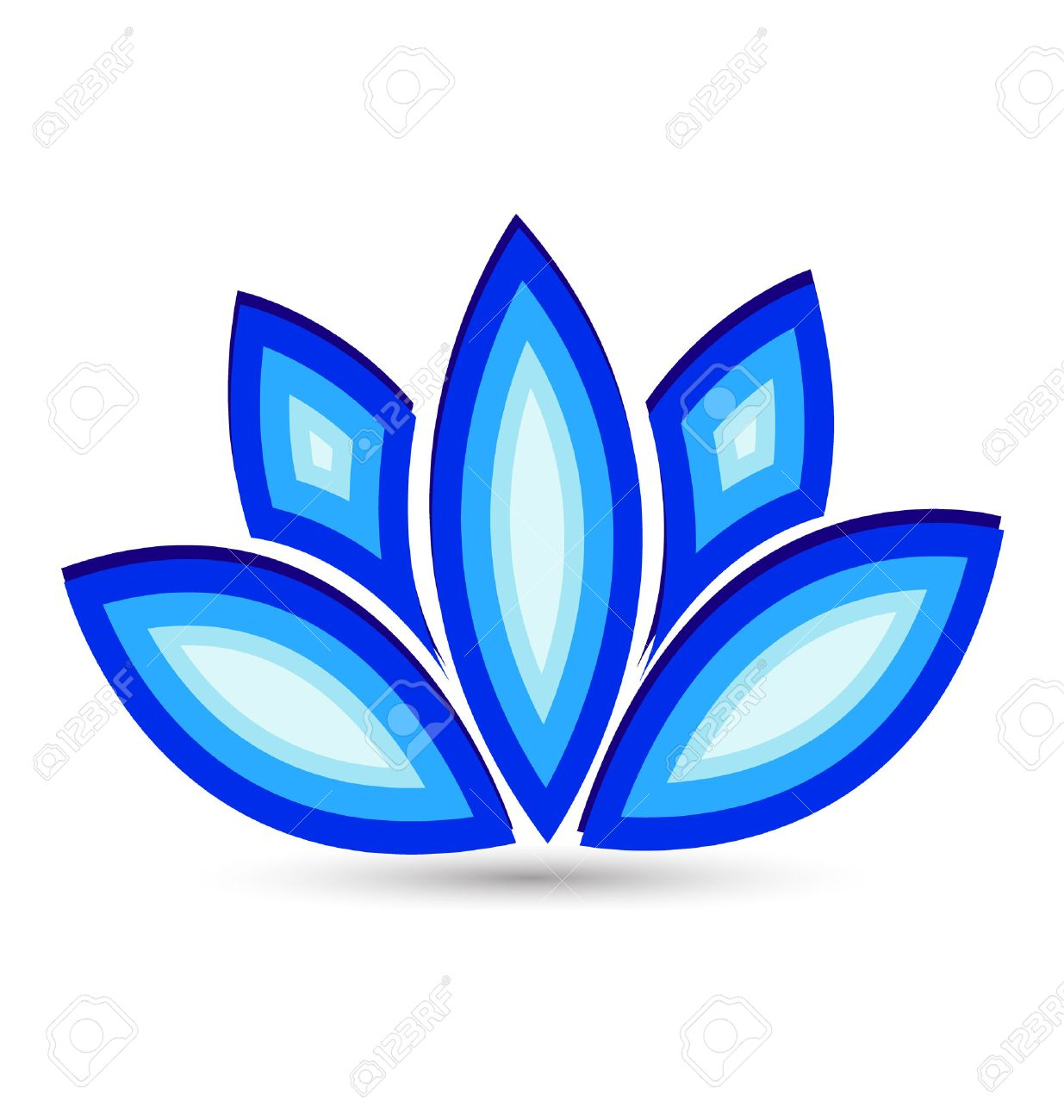 Blue lotus flower vector icon royalty free cliparts vectors and blue lotus flower vector icon stock vector 25327113 dhlflorist Images