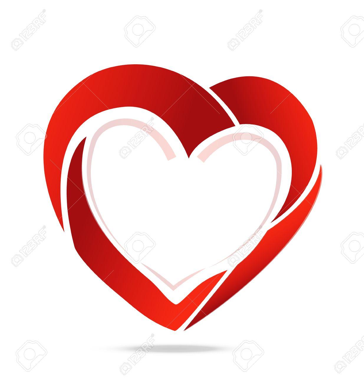 Swoosh heart love symbol Stock Vector - 25327137