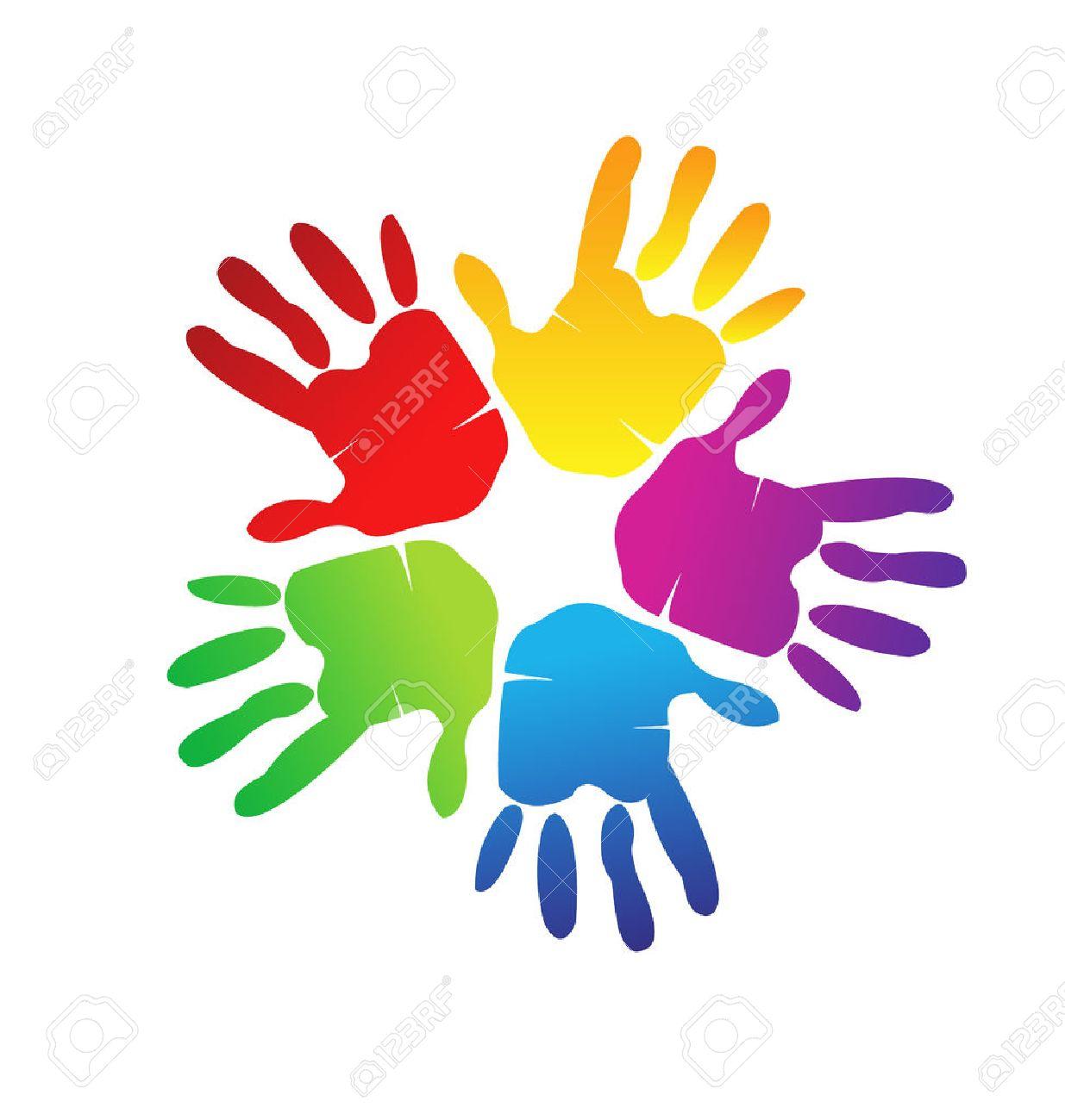 Las Manos Representan A Una Familia Feliz El Amor Y El Apoyo