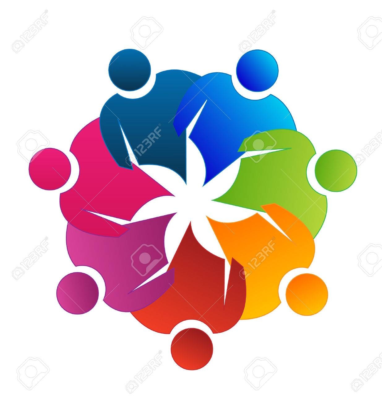 Teamwork Reunion Vector Icon Royalty Free Cliparts, Vectors, And Stock  Illustration. Image 28053412.