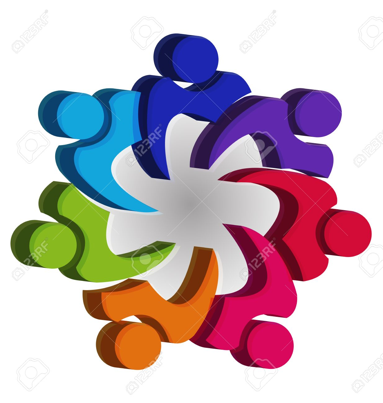 Teamwork Unity People Icon Design Template Icon Vector Royalty Free ...