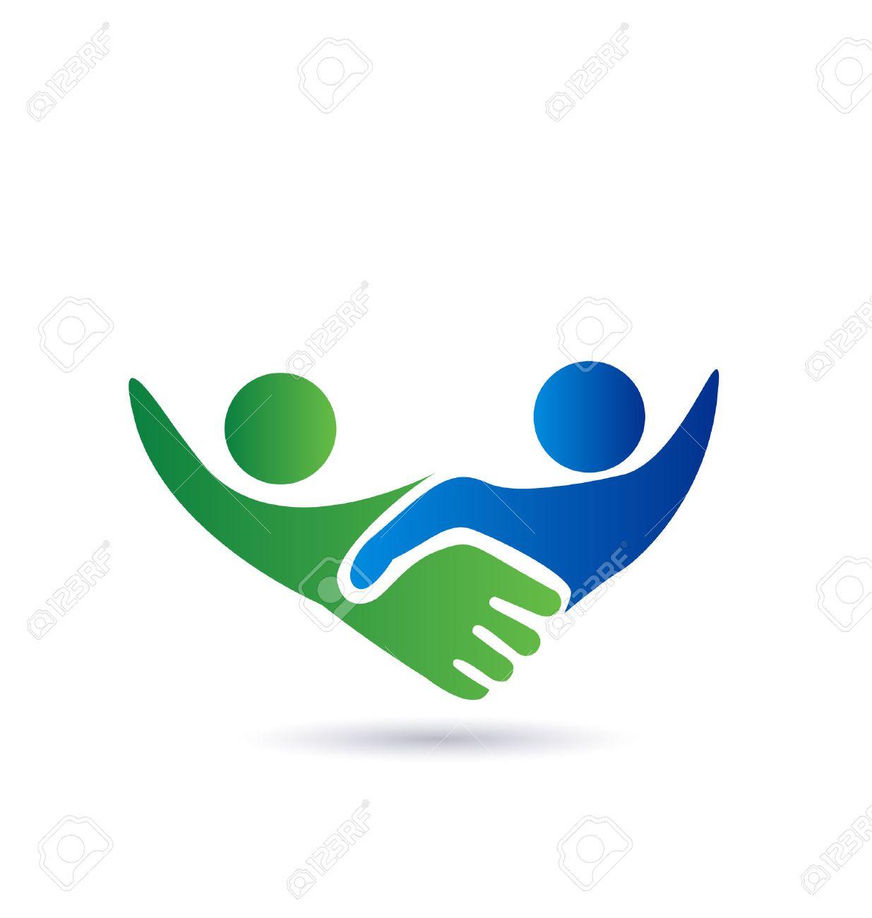 Handshake people in business vector icon - 34510520