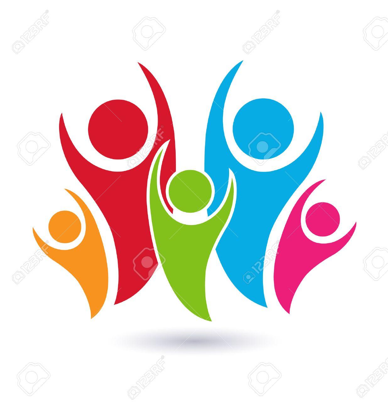 Familia Vector Símbolo Concepto De Identidad Unión Icono De La