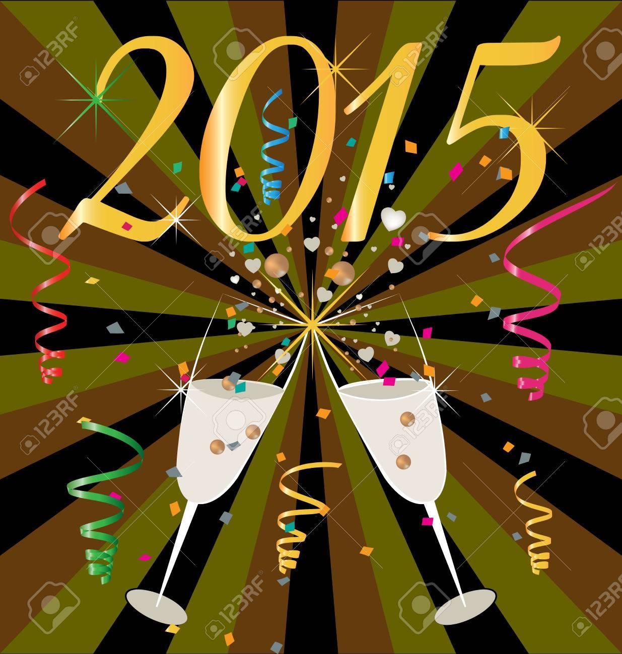 乾杯シャンパン カップ ベクトル壁紙 15 年祝賀のイラスト素材 ベクタ Image