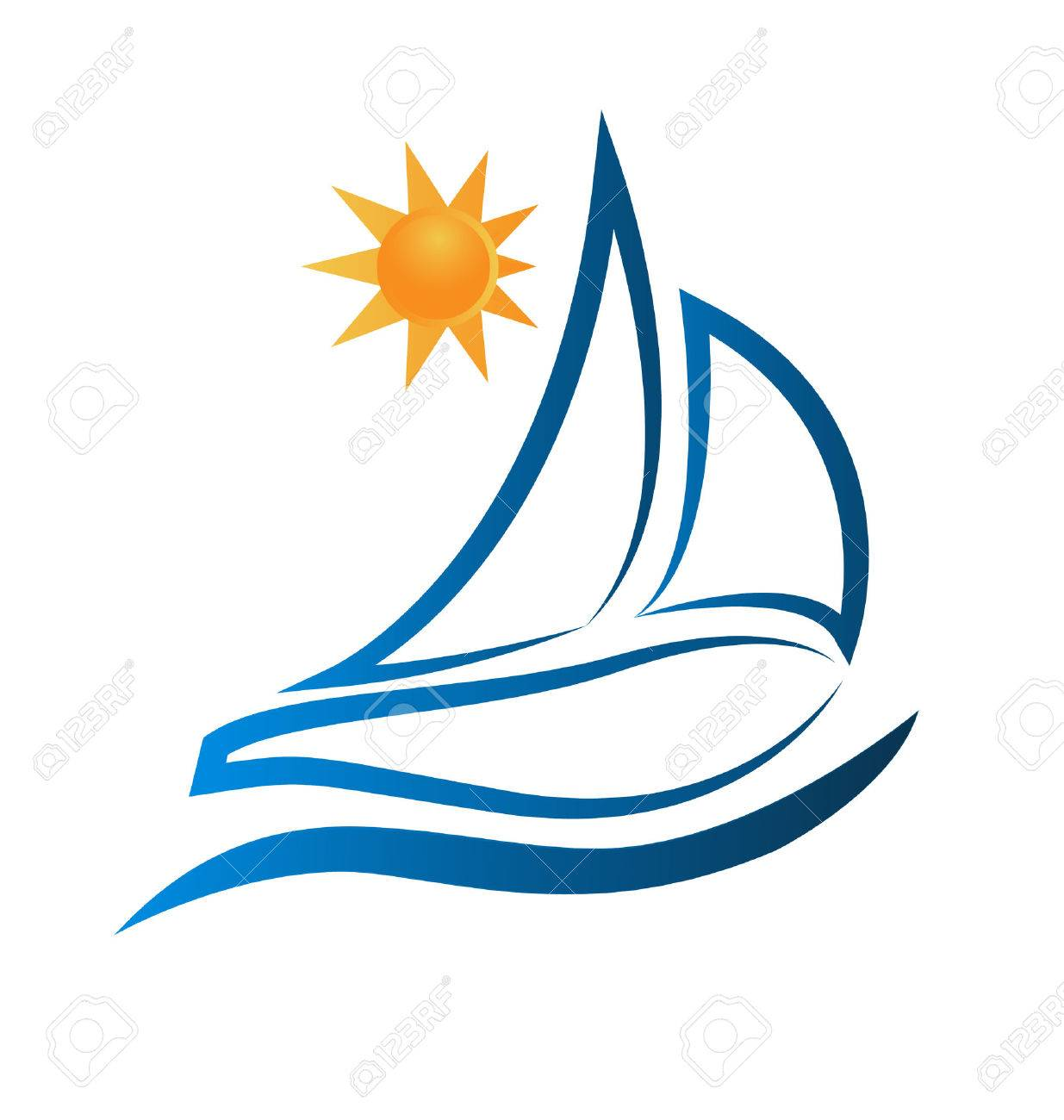 boat waves and sun ocean beach frame picture royalty free cliparts