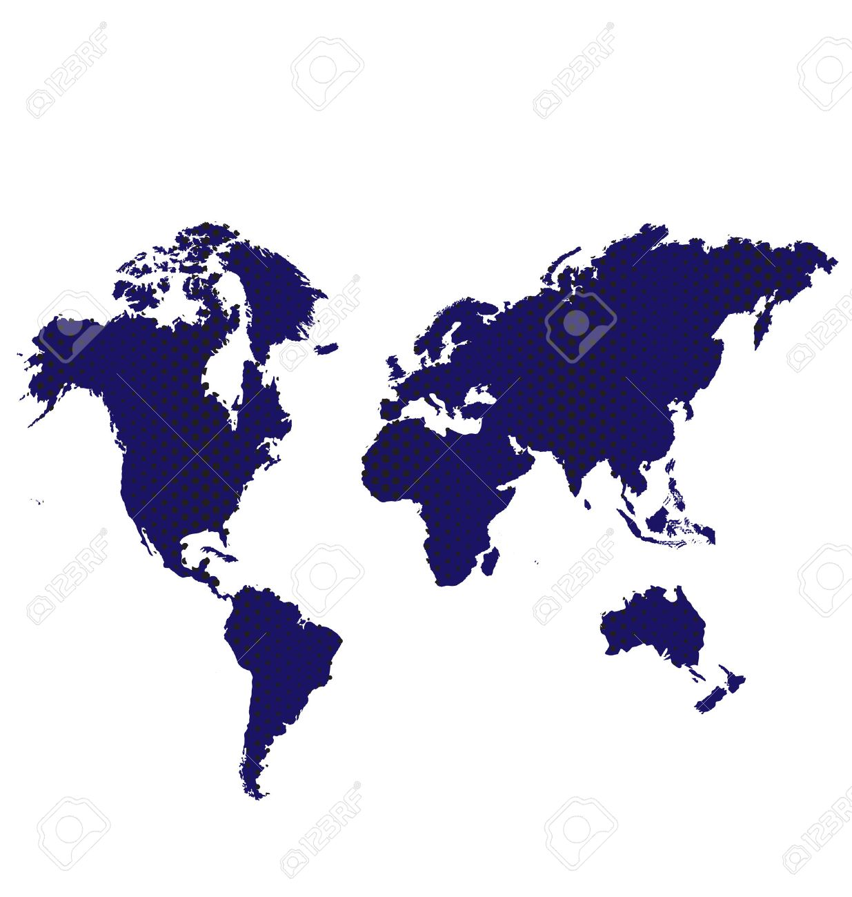 Blue Dark Map World Vector Image Icon Royalty Free Cliparts
