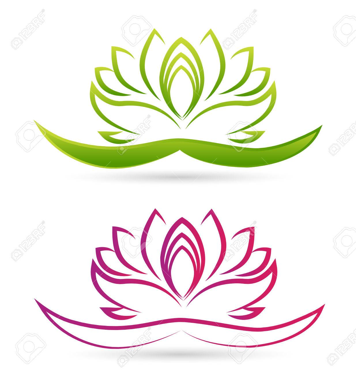 Lotus flower vector royalty free cliparts vectors and stock lotus flower vector stock vector 38277414 mightylinksfo