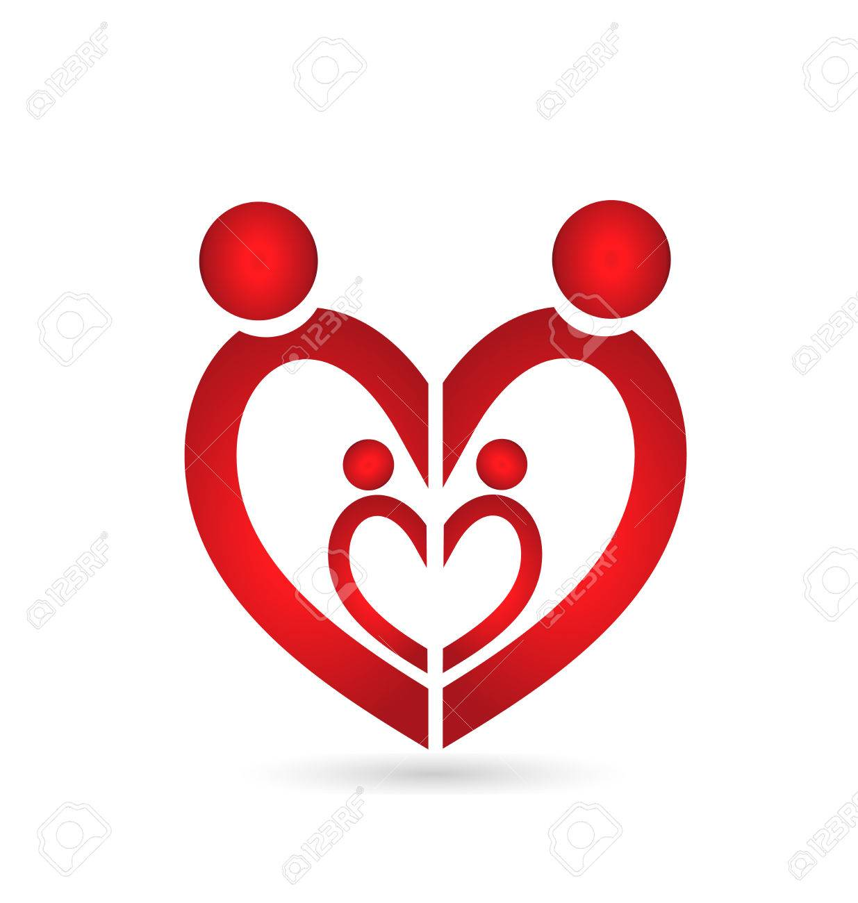 Family Union Symbol Heart Royalty Free Cliparts Vectors And Stock