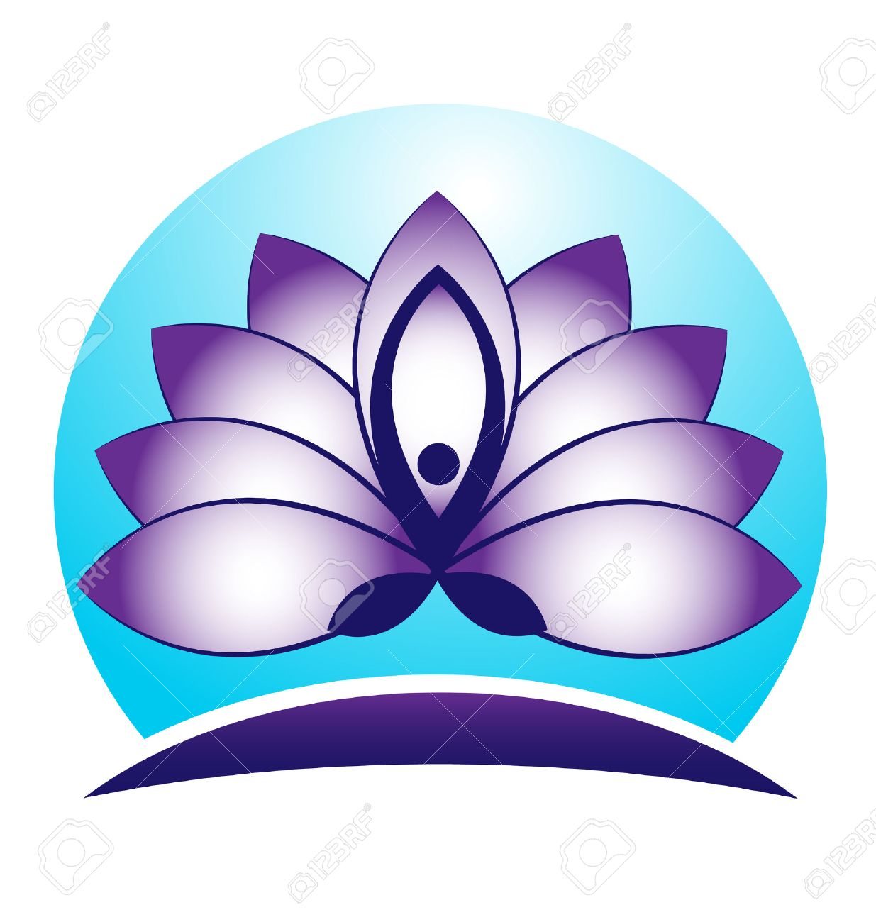 Blue lotus flower yoga symbol vector icon logo design royalty free blue lotus flower yoga symbol vector icon logo design stock vector 38816278 dhlflorist Images