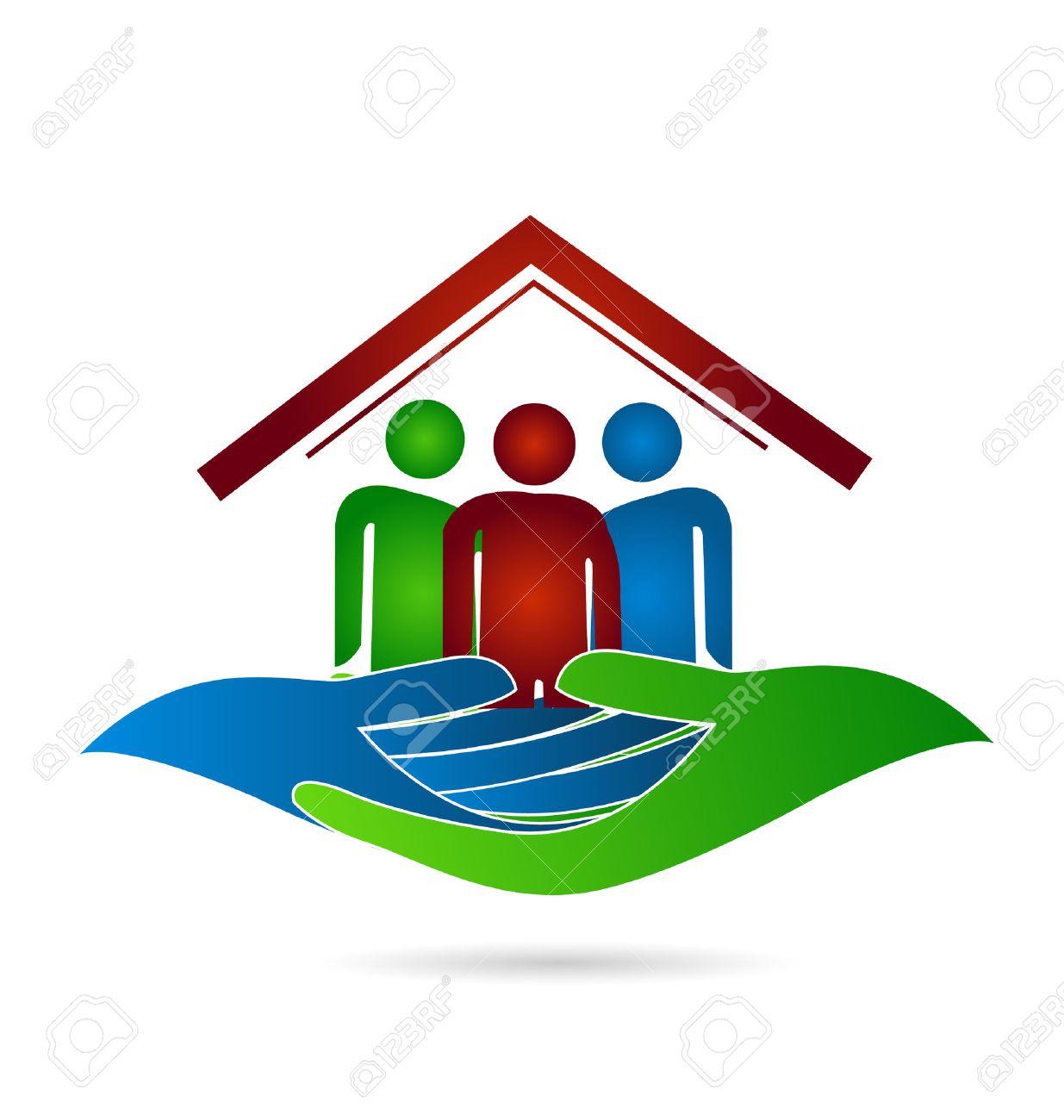 Maison Protection De La Famille Des Mains Carte Visite Identit