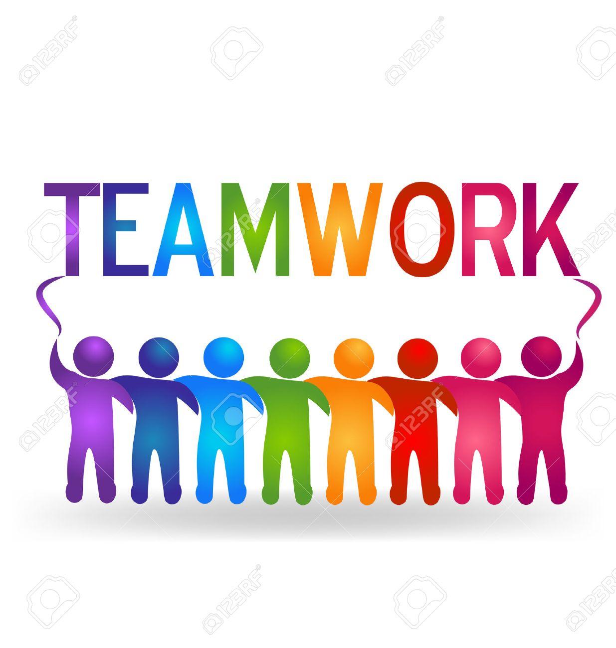 vector teamwork partner people logo royalty free cliparts vectors rh 123rf com teamwork clip art funny teamwork clip art pictures free