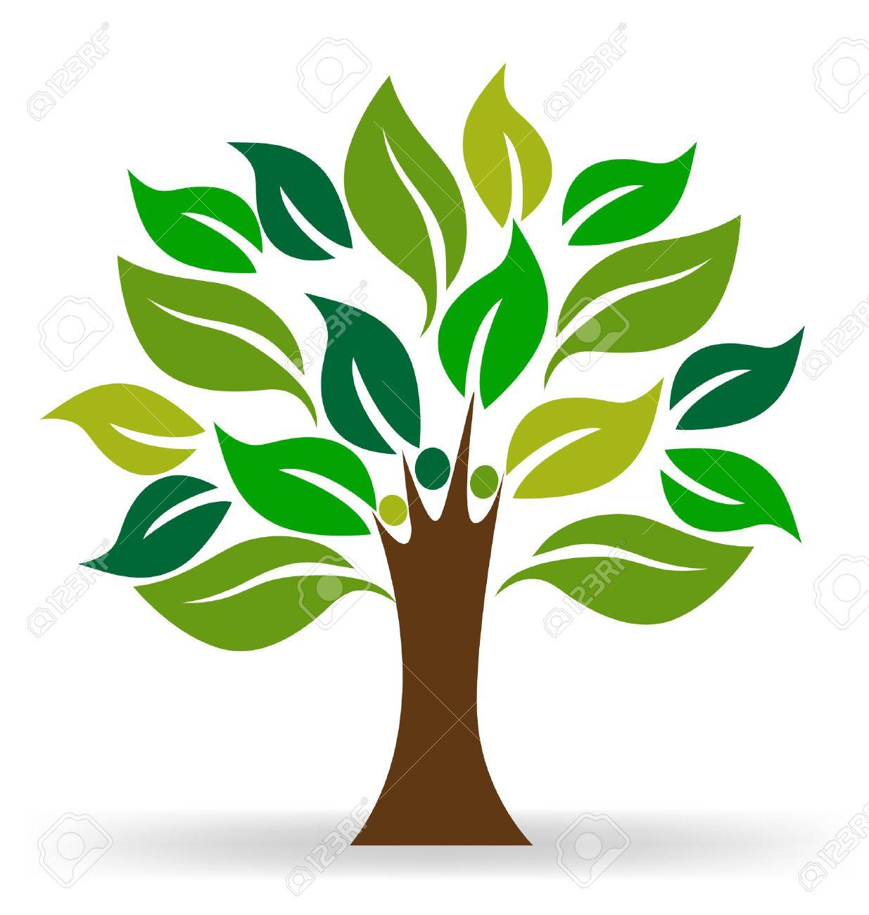 tree people ecology concept logo vector royalty free cliparts rh 123rf com free vector tree of life free vector tree art