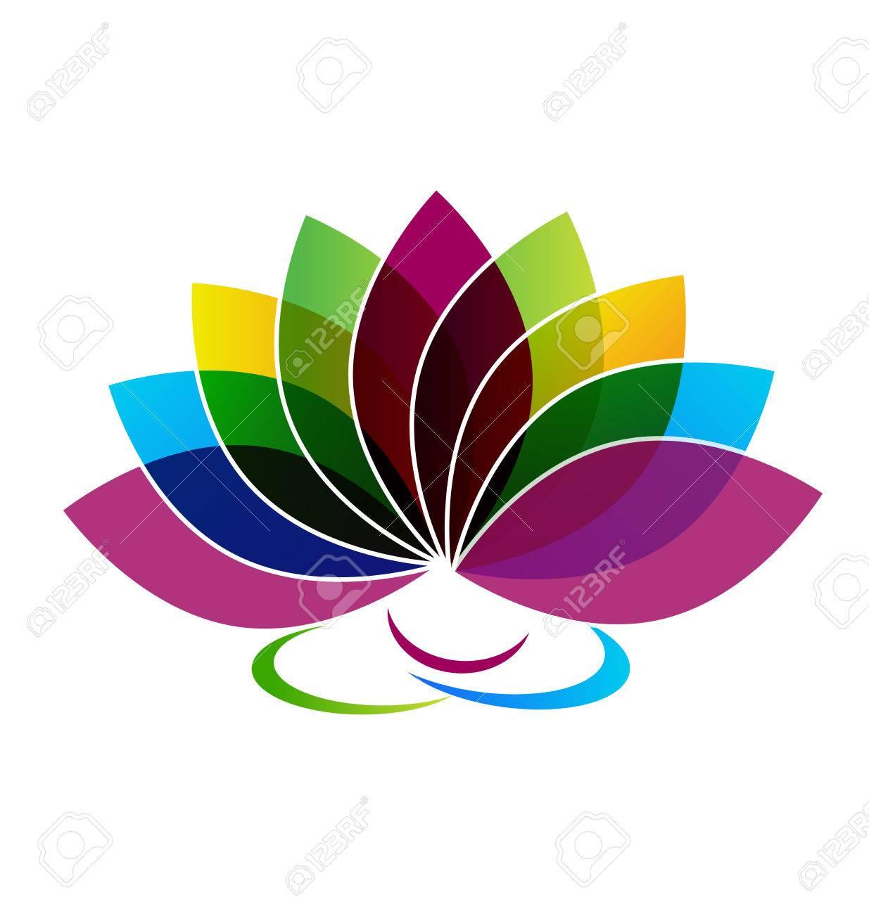 lotus flower identity card logo vector royalty free cliparts rh 123rf com  lotus flower logo design