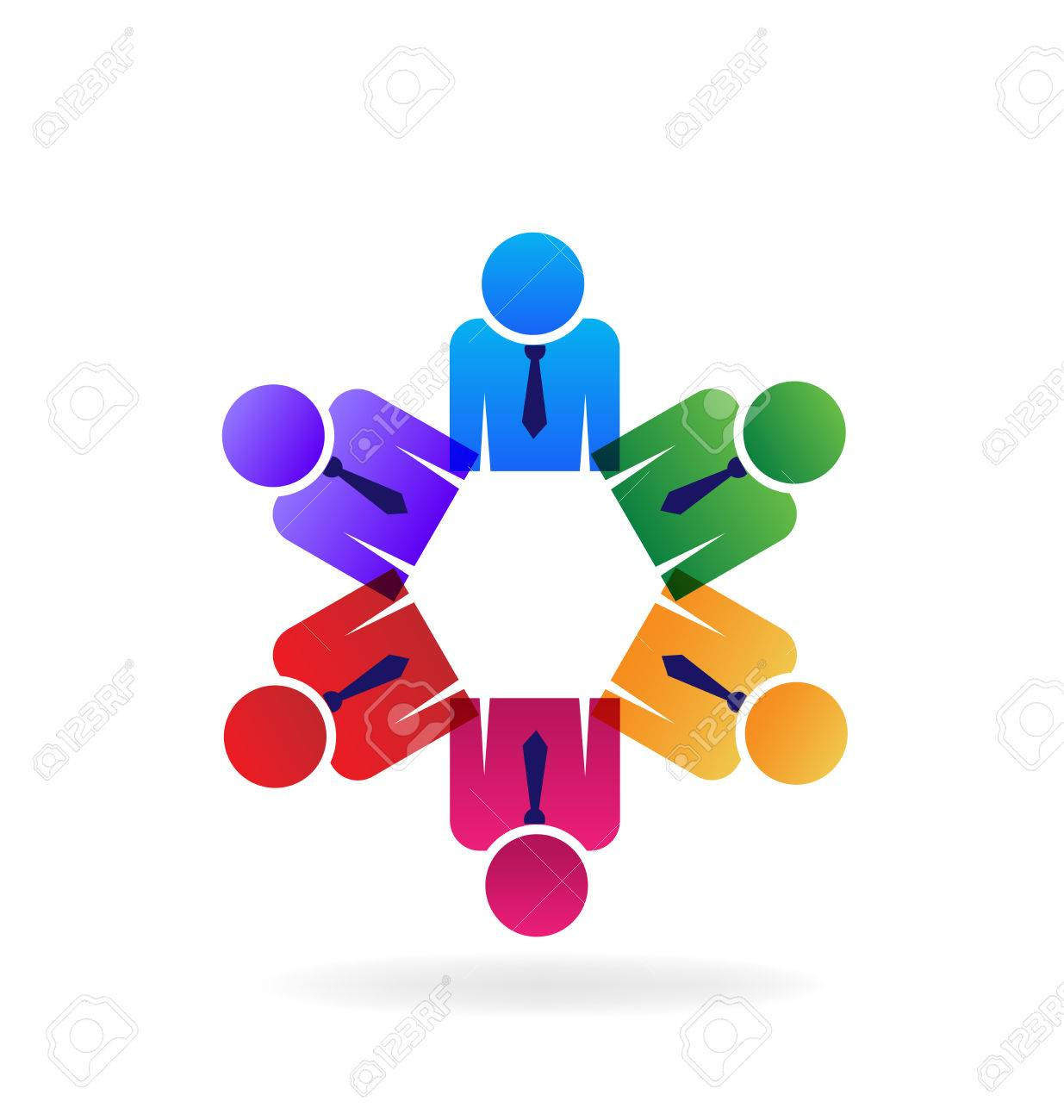 teamwork executives business people holding hands logo vector rh 123rf com holding hands logo design Logos of Different Colored Hands Holding
