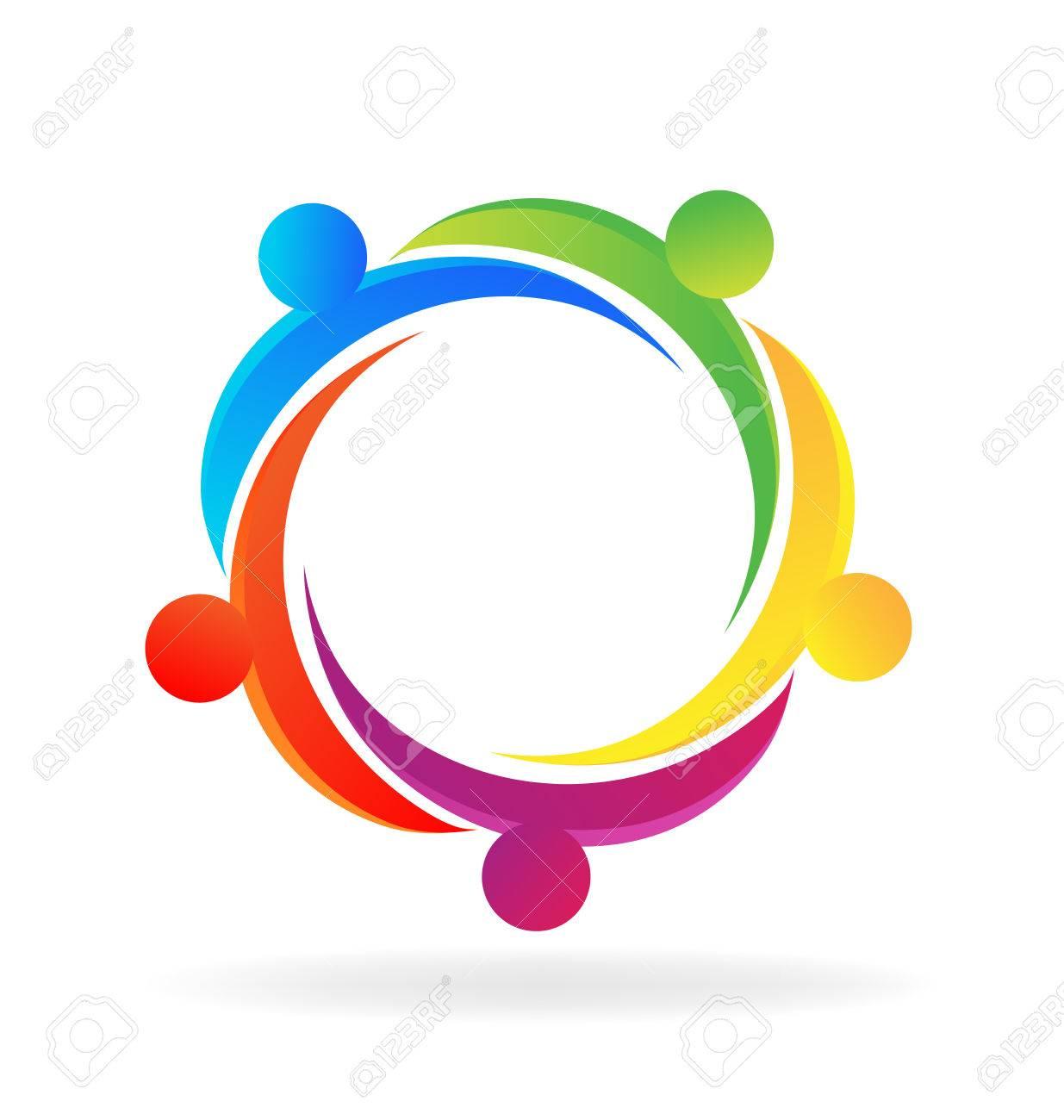 teamwork hug people logo vector concept of unity royalty free rh 123rf com logo vectors free logo vectors free