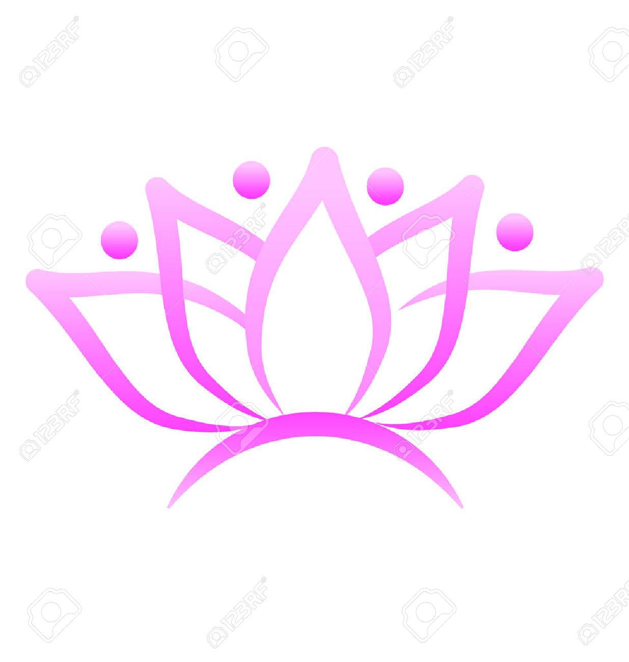 Lotus flower logo design vector business card royalty free cliparts imagens lotus flower logo design vector business card reheart