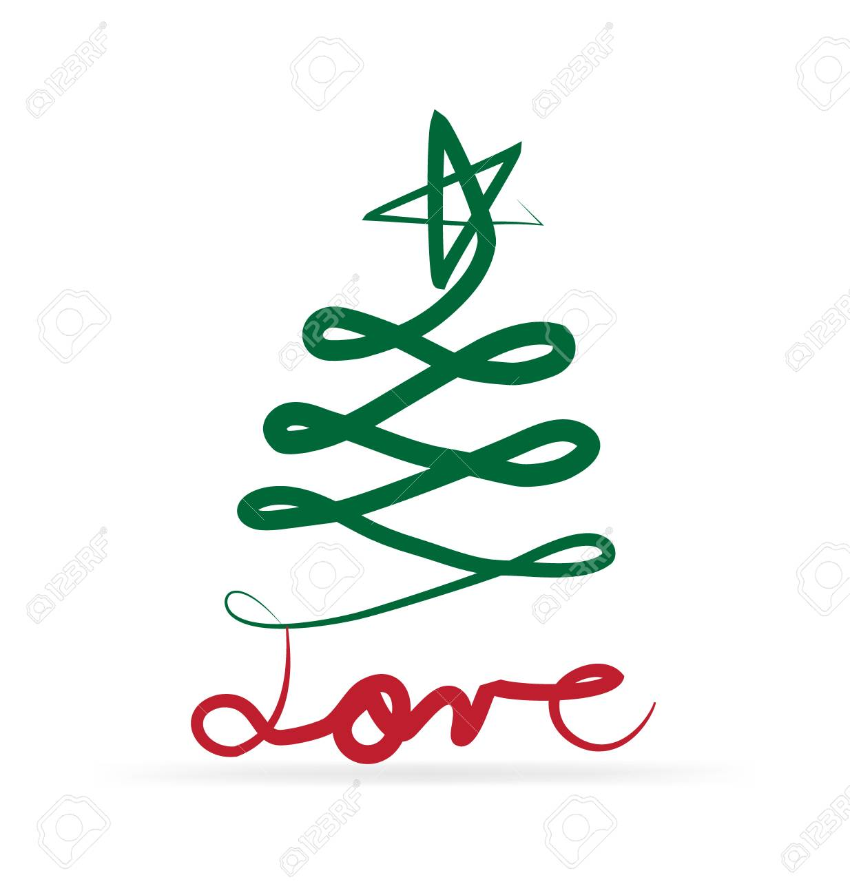 Christmas Tree And Love Text Royalty Free Cliparts Vectors And Stock Illustration Image 49922585