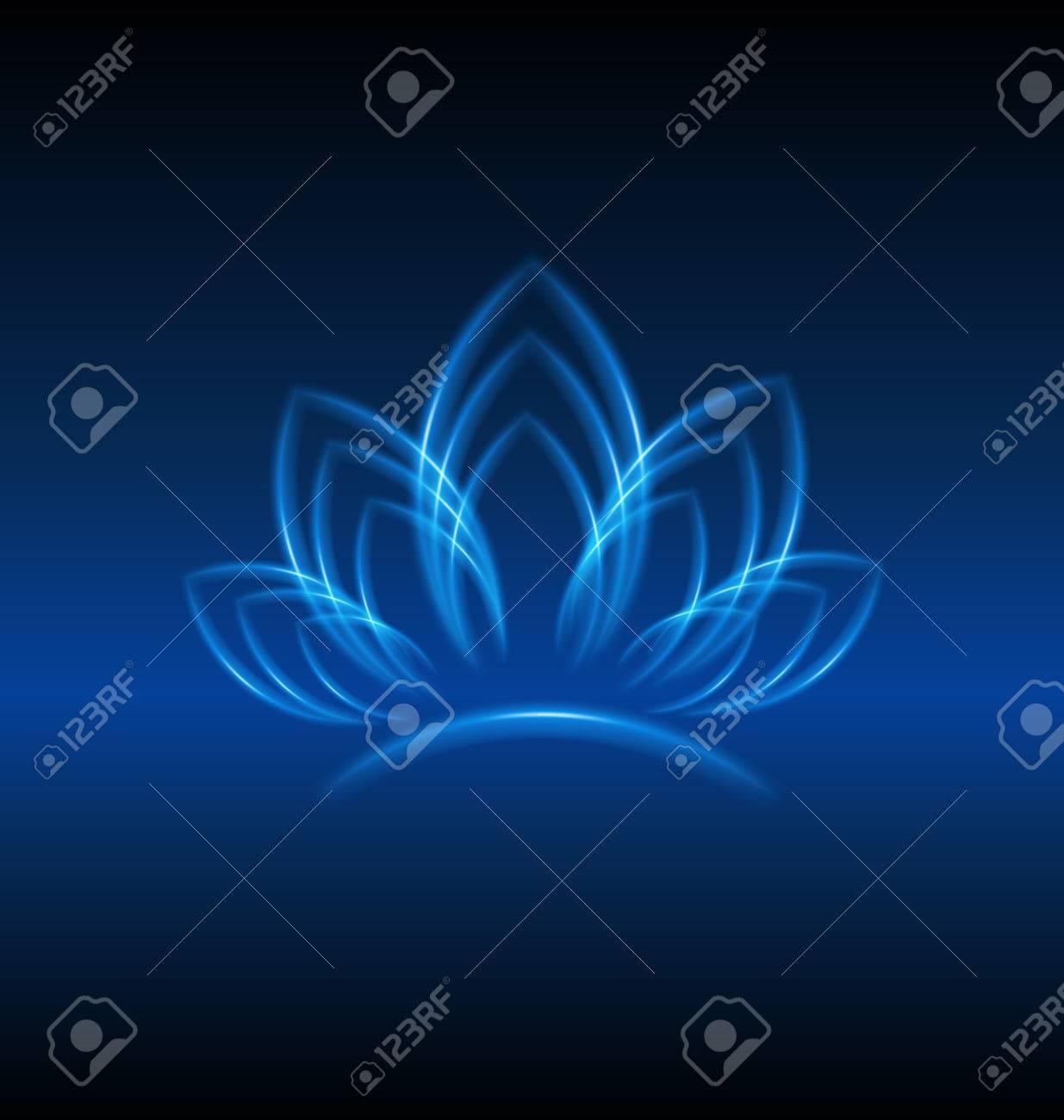 Lotus Fleur Bleue Carte De Visite Lidentite Dessin Vectoriel