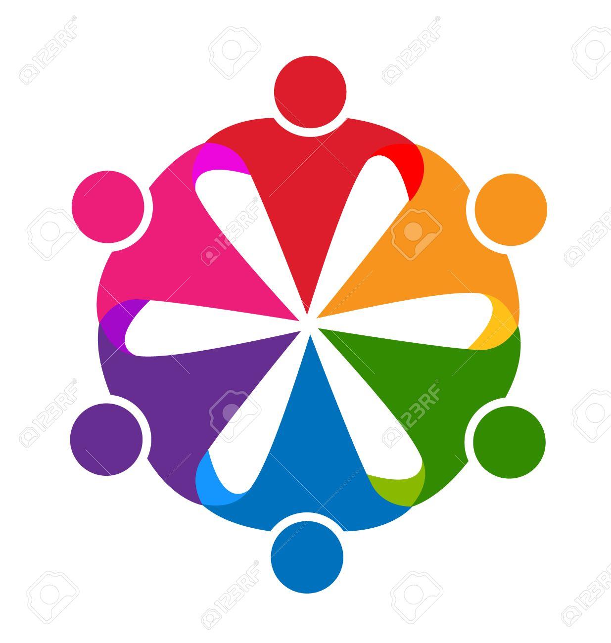 Logo hug people teamwork vector id business card design royalty free banco de imagens logo hug people teamwork vector id business card design reheart Image collections