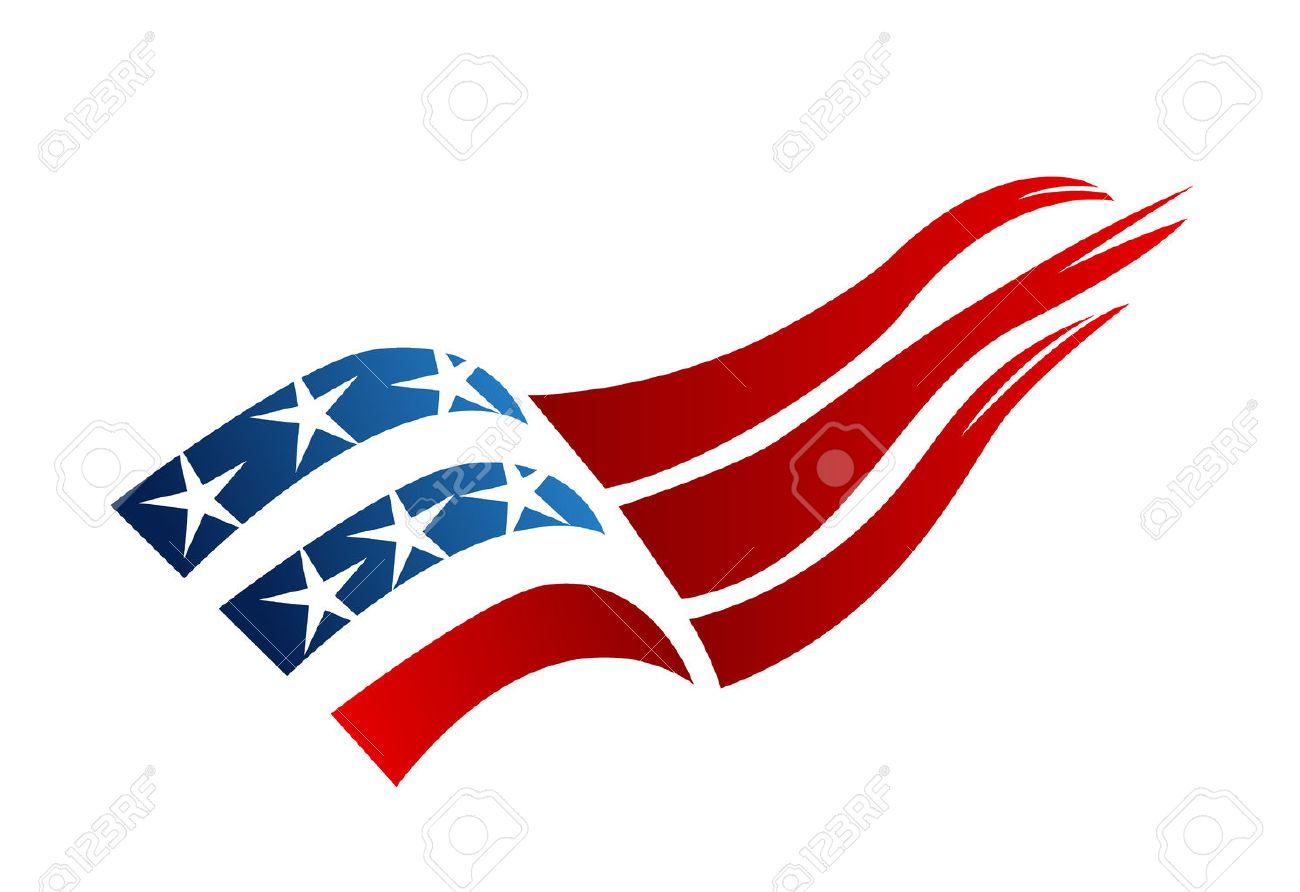 USA Flag logo vector - 52591927