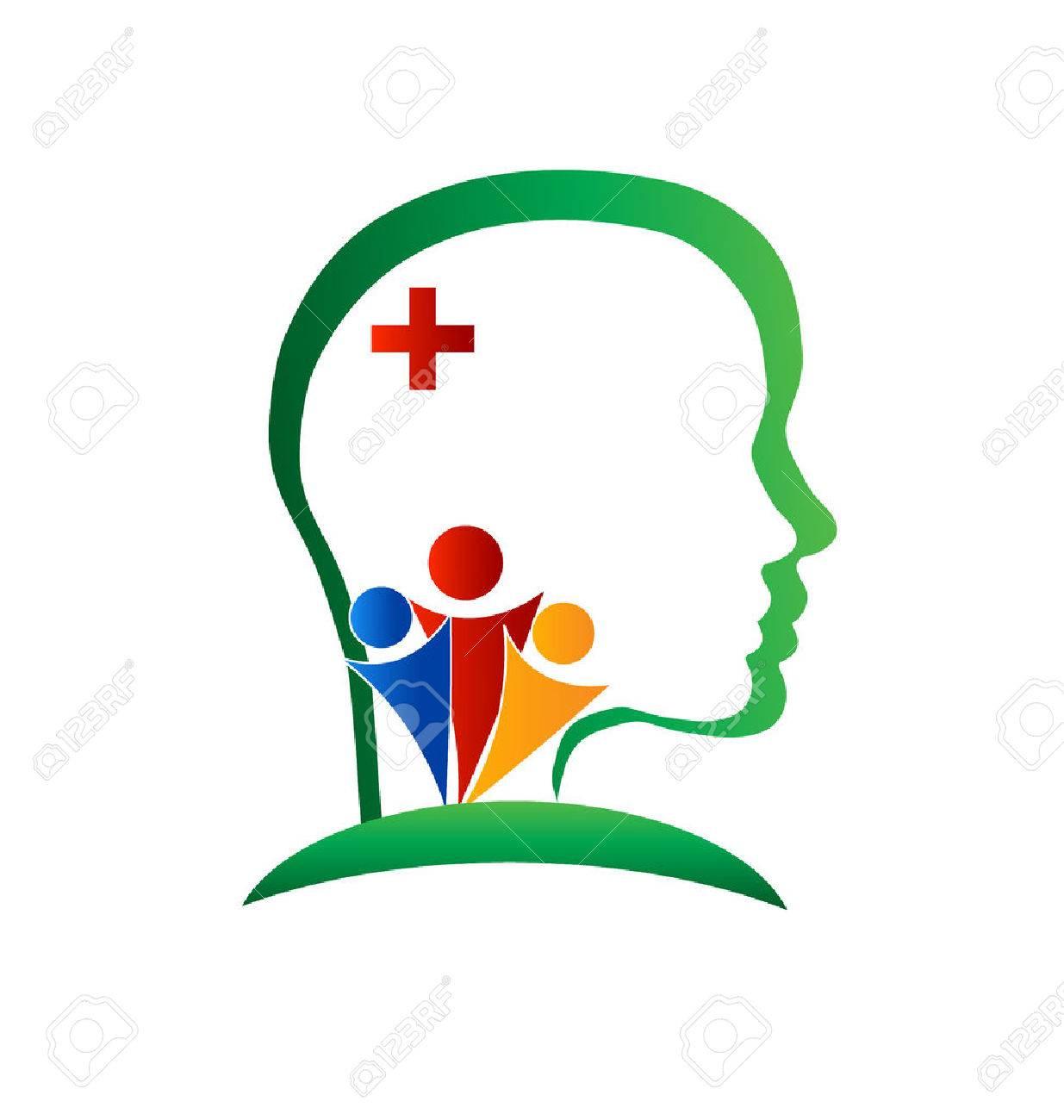 Wellness brain logo vector - 53035447