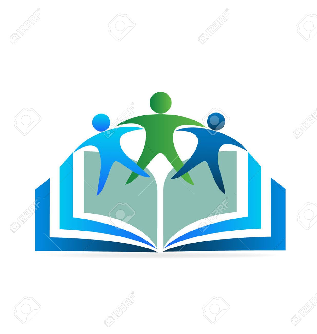 Book and friends education logo - 55848425