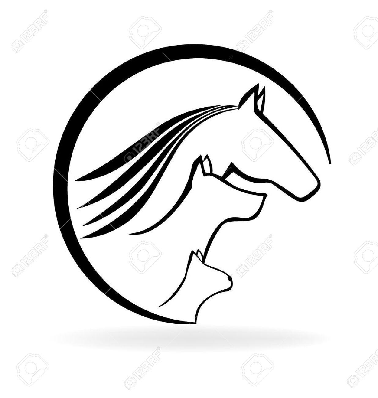 Pferd Katze Und Hund (Veterinär- Visitenkarte) Lizenzfrei Nutzbare ...