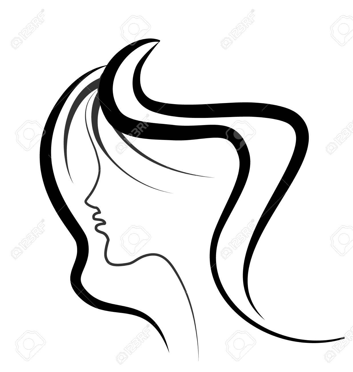 woman beauty face vector royalty free cliparts vectors and stock rh 123rf com black and white vector art of famous people black and white vector clip art