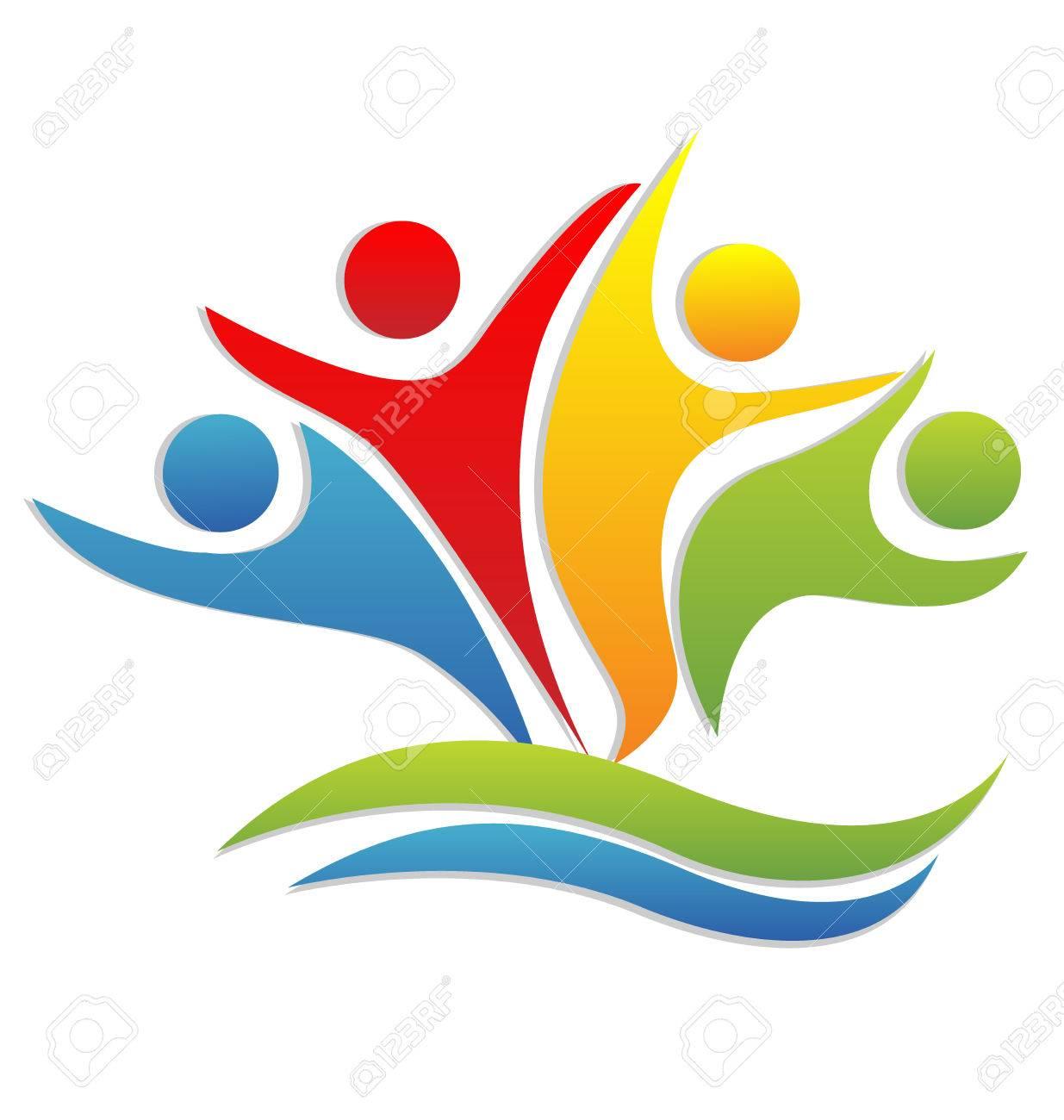 Teamwork Happy Partners Business Icon Vector Lizenzfrei Nutzbare ...