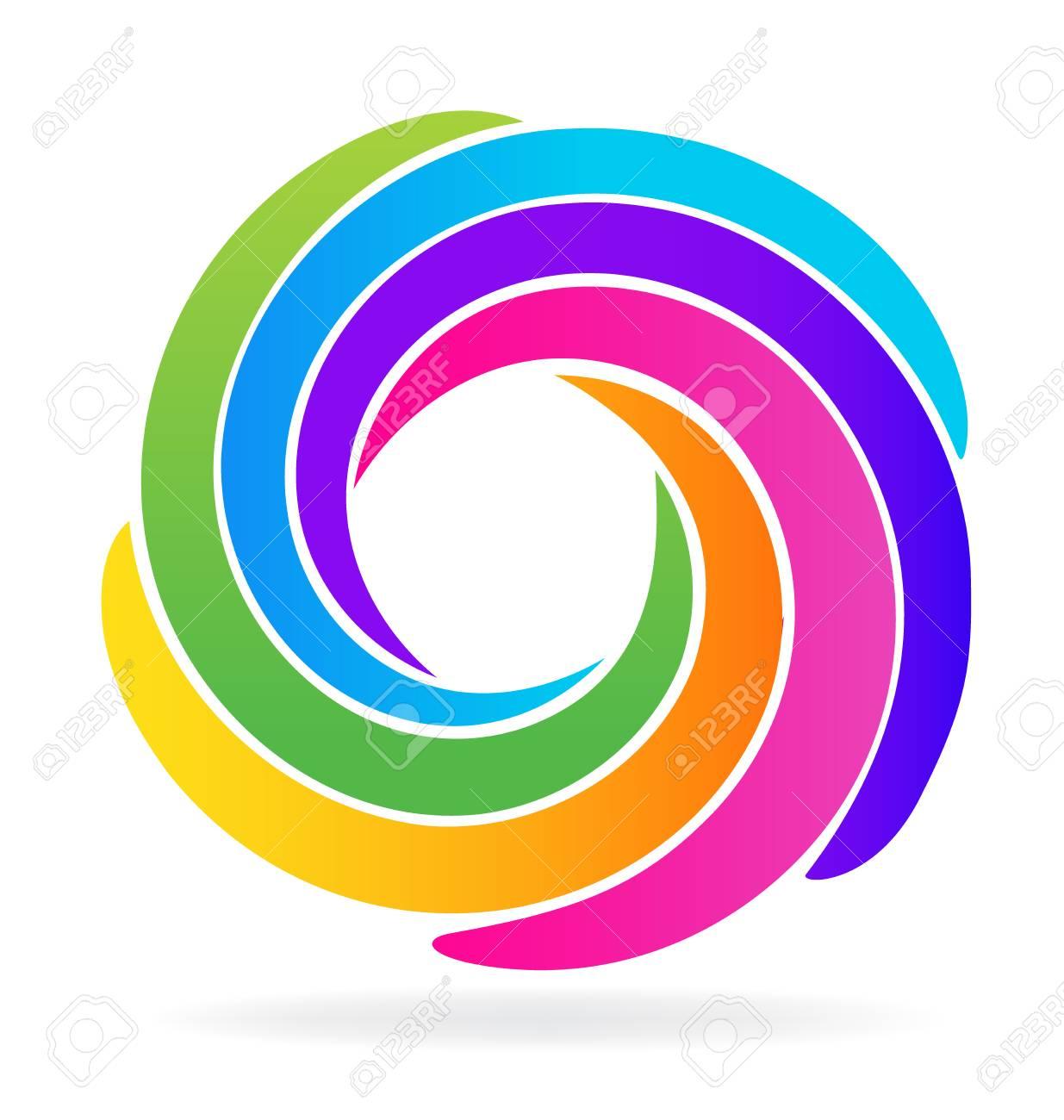 Ondes Spirales Identit De Conception Icne Carte Visite Clip Art