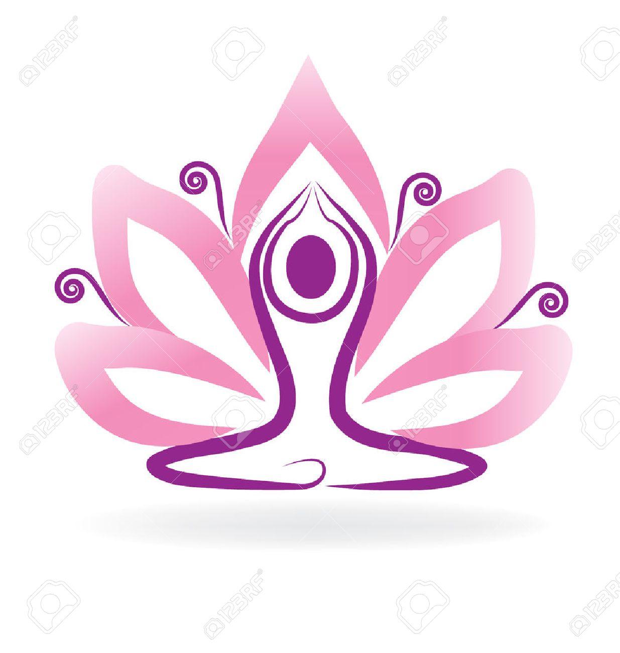 Lotus flower meditation yoga royalty free cliparts vectors and lotus flower meditation yoga stock vector 65295875 izmirmasajfo