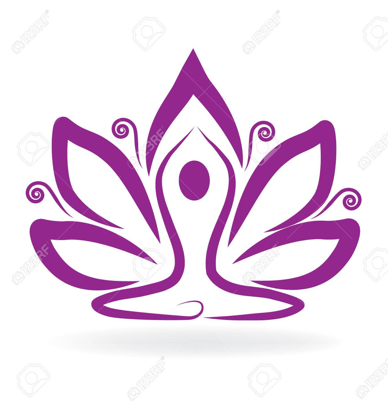 Lotus Flower Yoga Royalty Free Cliparts Vectors And Stock