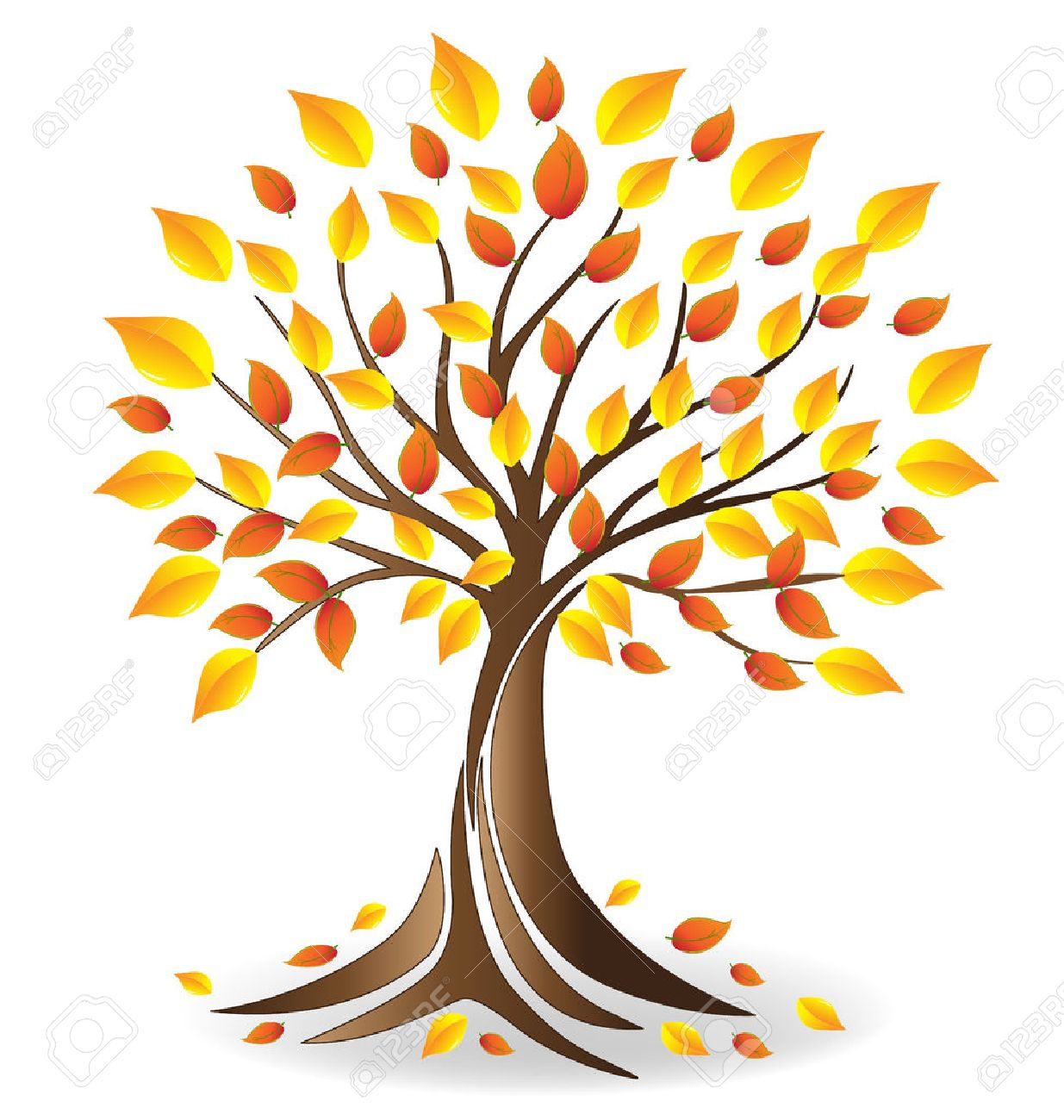 Ecology fall tree  vector Banque d'images - 65296115