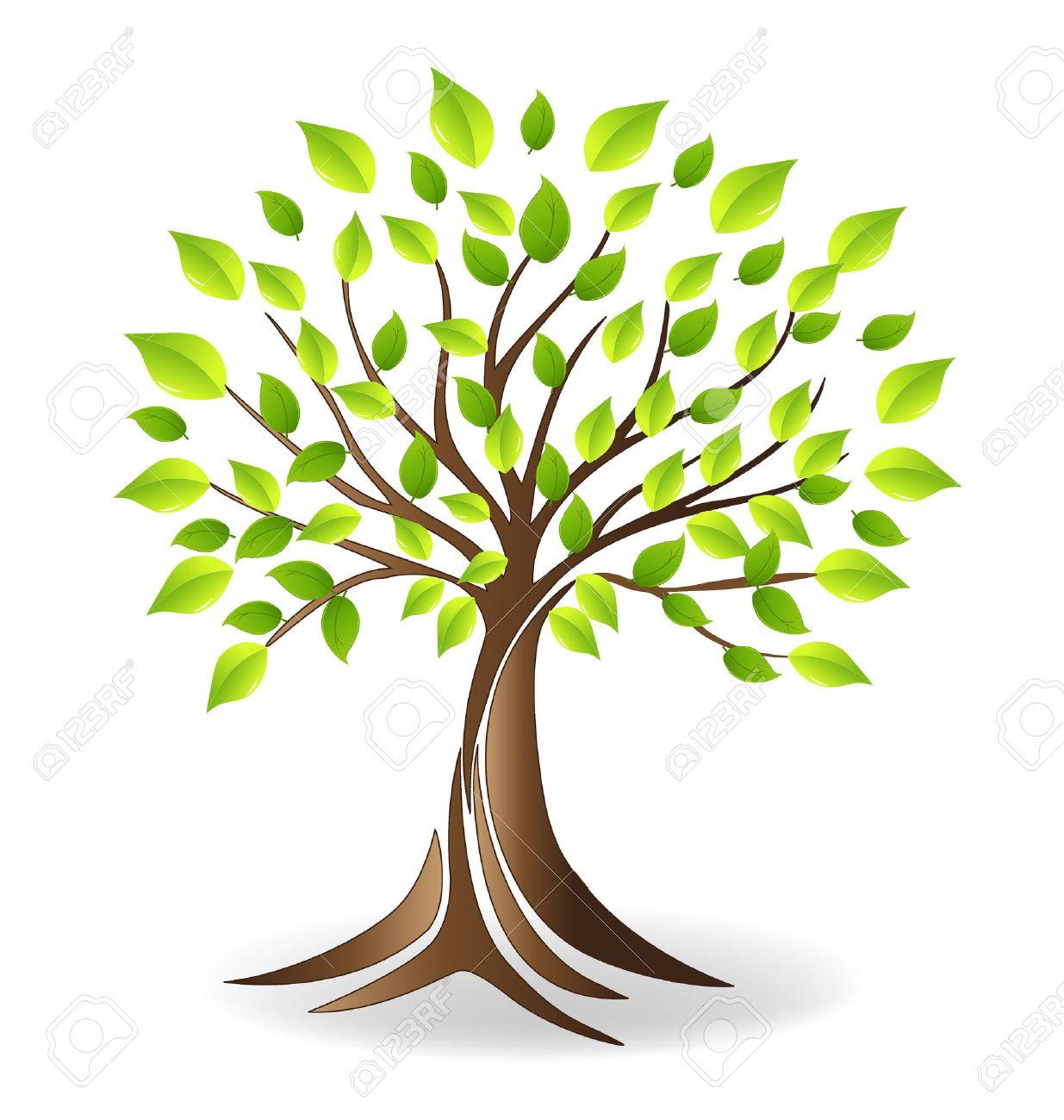 Ecology tree vector - 65296117