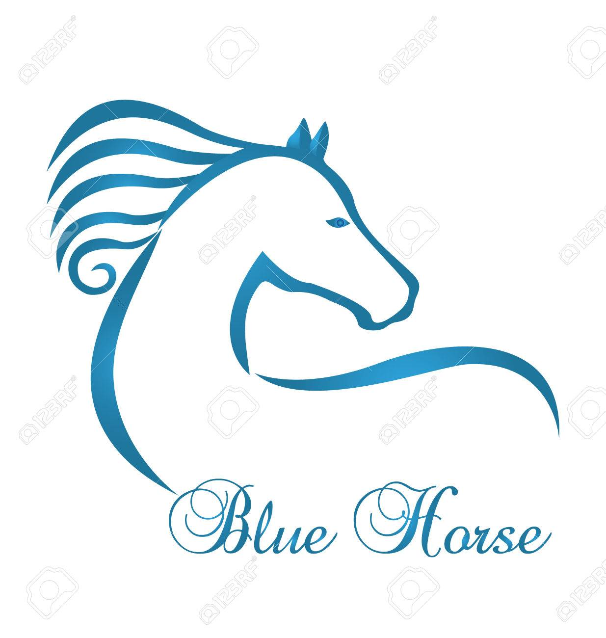 Blue Horse Silhouette Logo Royalty Free Cliparts Vectors And Stock Illustration Image 66204111