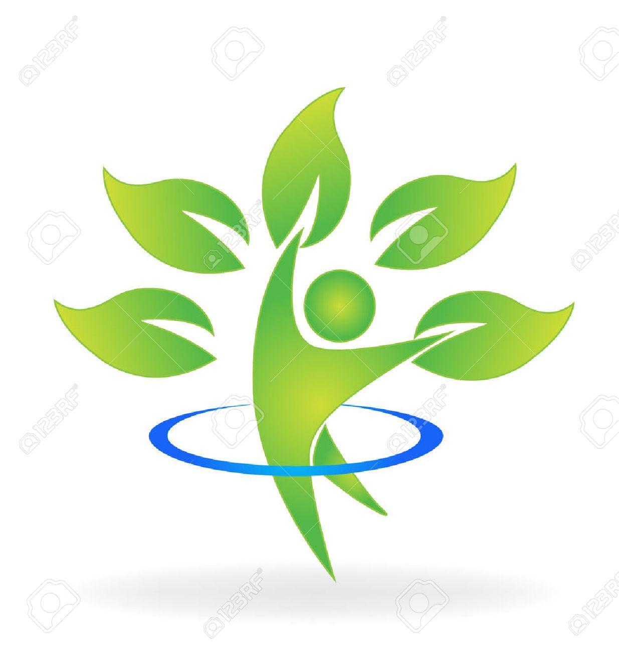 Health nature tree figure care vector web identity business card logo icon - 68645771