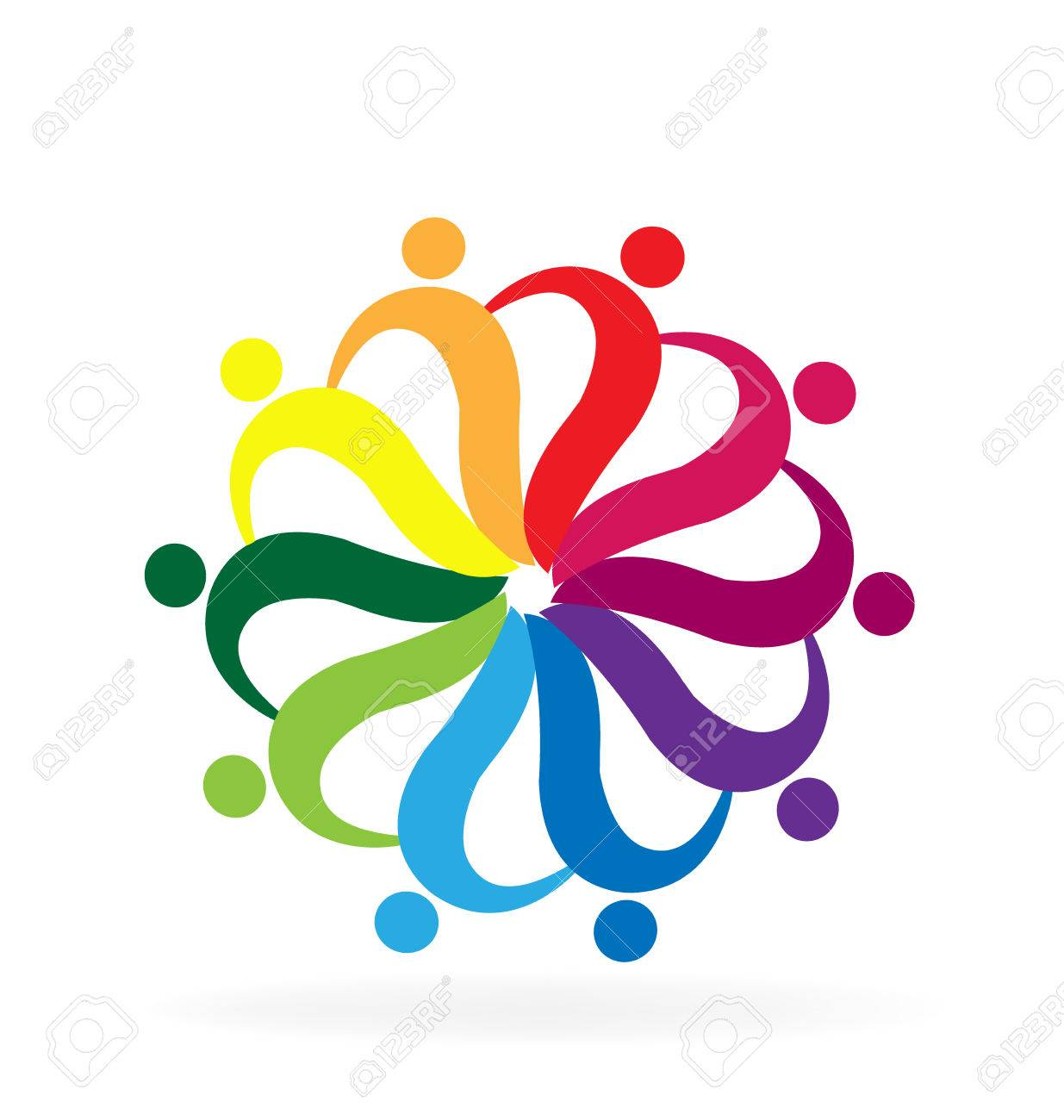 Teamwork helping people rainbow color business card logo vector teamwork helping people rainbow color business card logo vector design stock vector 68647715 reheart Images