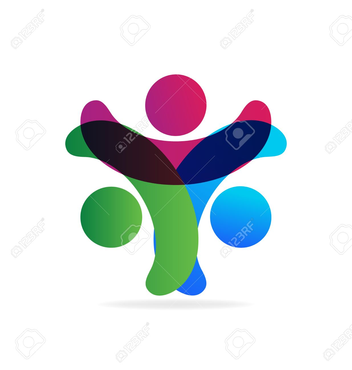 Teamwork holding hands people business card icon logo vector design imagens teamwork holding hands people business card icon logo vector design reheart Gallery