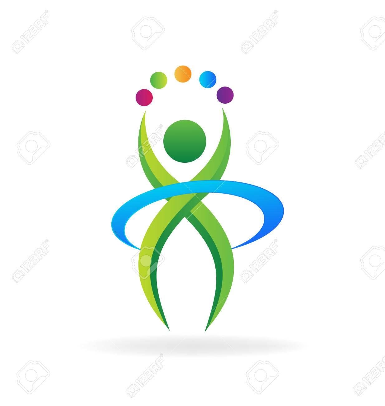 Person Fitness-Geschäft Symbol Vektor-Logo-Vorlage Lizenzfrei ...