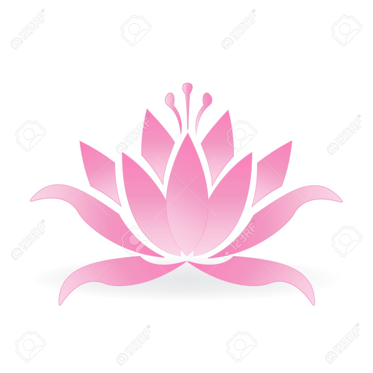 Pink lotus flower logo icon vector design royalty free cliparts pink lotus flower logo icon vector design stock vector 75504912 dhlflorist Images