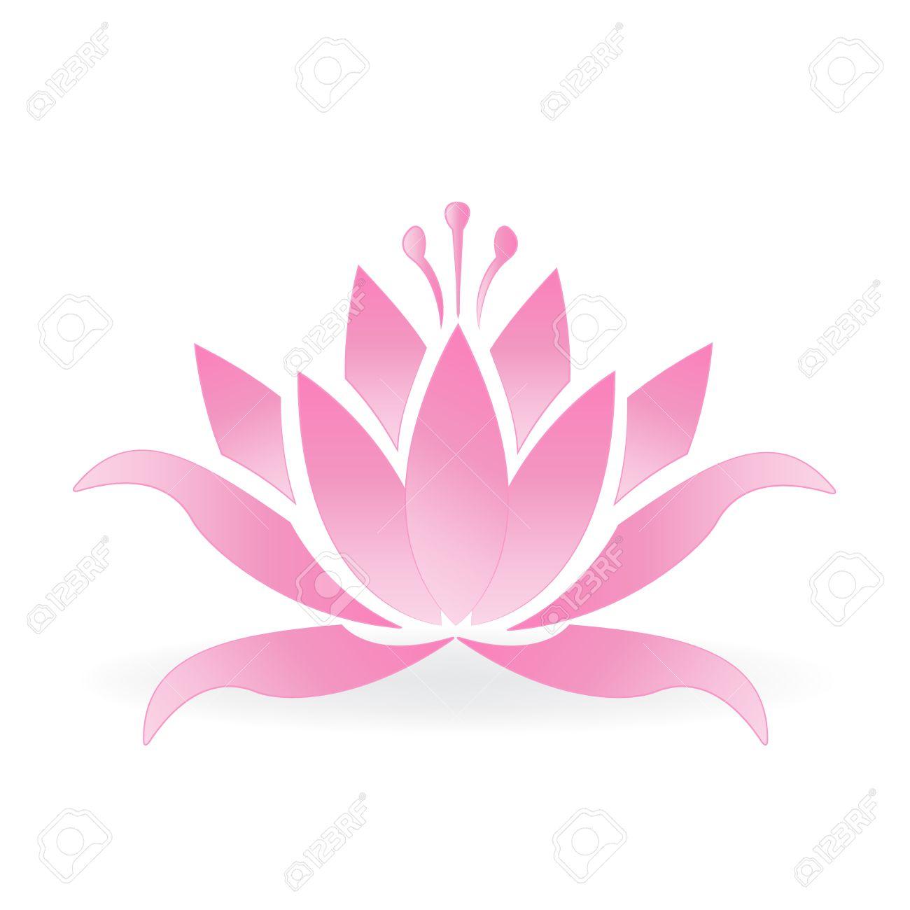 Pink lotus flower logo icon vector design royalty free cliparts pink lotus flower logo icon vector design stock vector 75504912 mightylinksfo