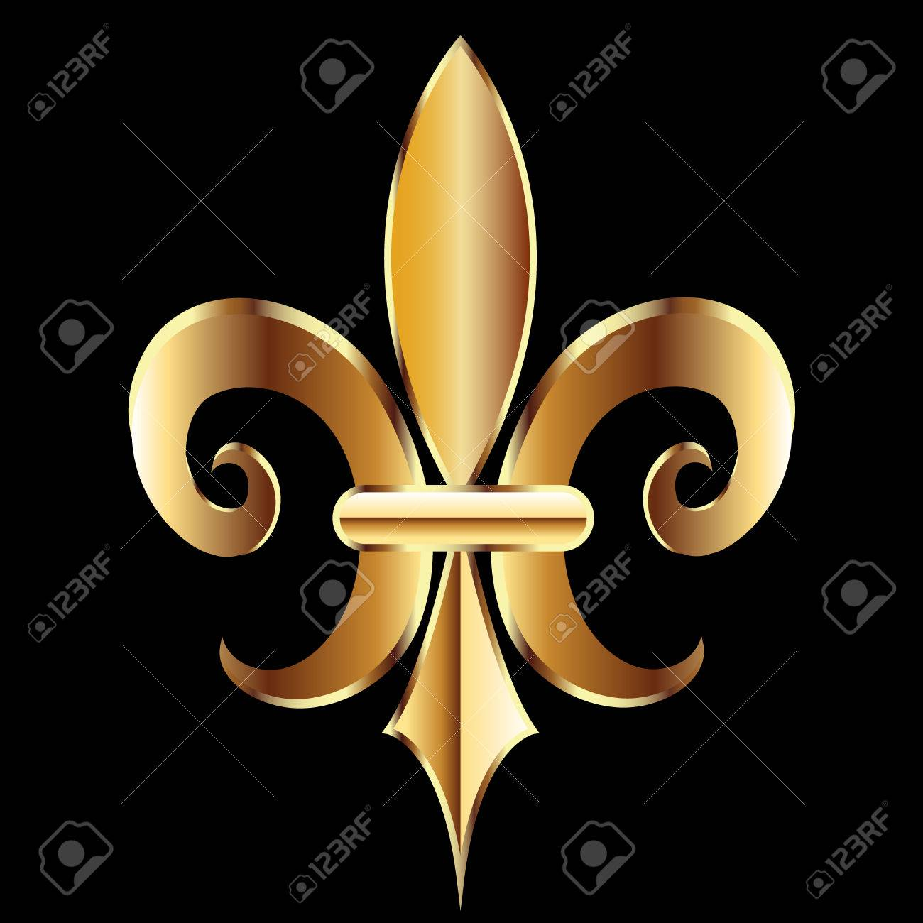 Fleur de lis frame stock photos royalty free business images new orleans symbol flower logo icon vector image template buycottarizona Images