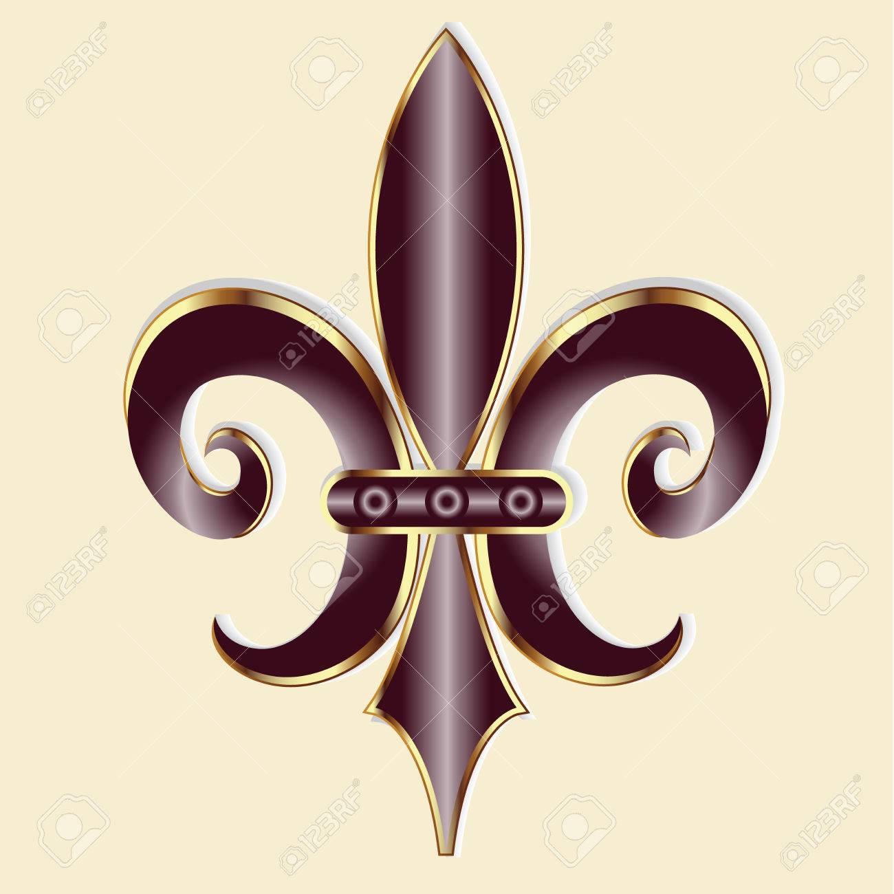 Fleur de lis new orleans symbol flower logo icon vector image new orleans symbol flower logo icon vector image template stock vector buycottarizona Choice Image