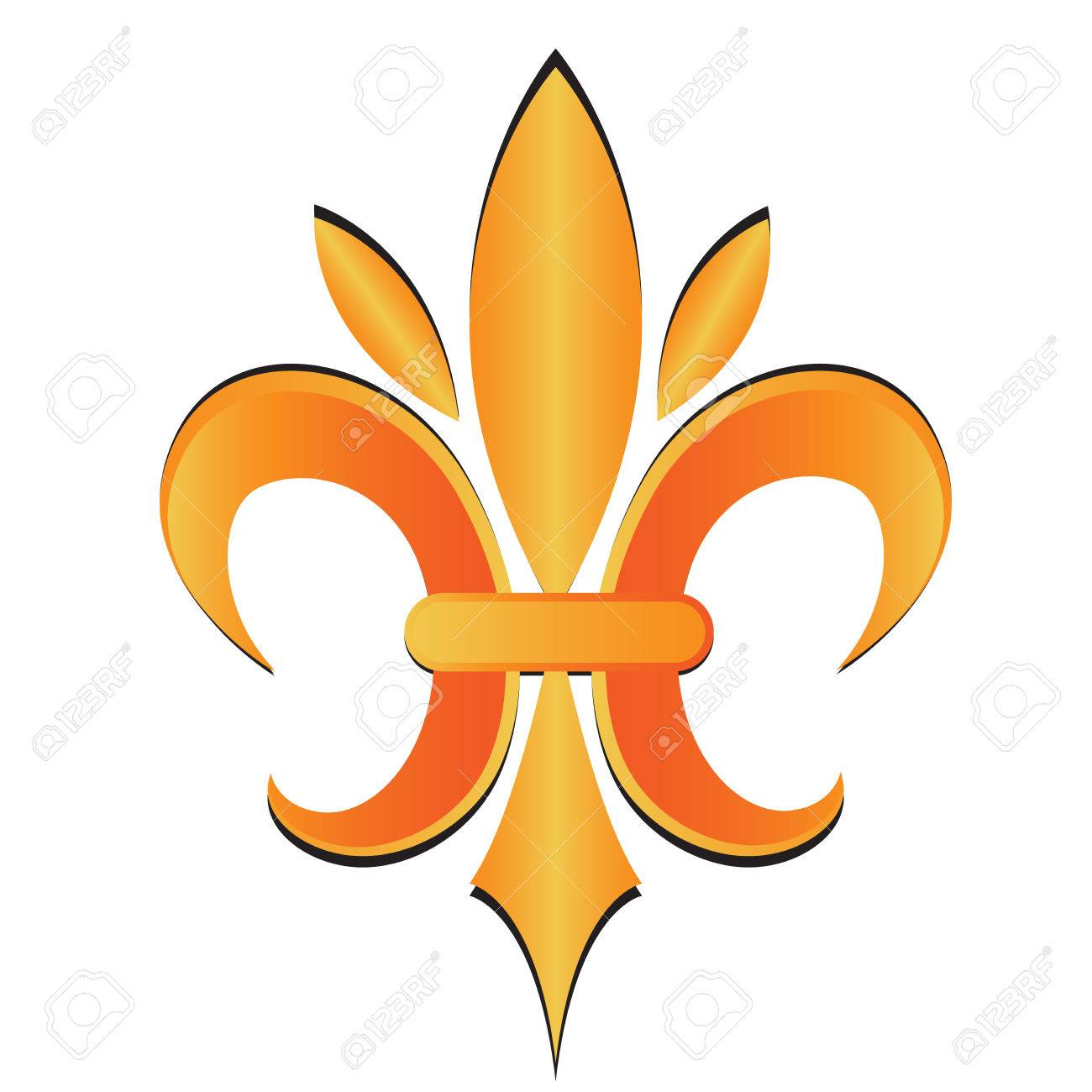 Fleur De Lis Symbol Flower Logo Icon Vector Image Template Stock