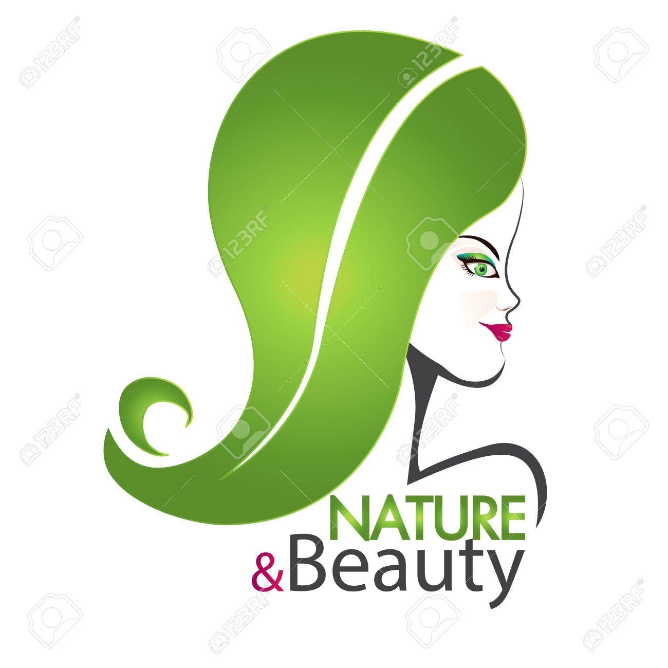 Kosmetiksalon logo  Natur Und Schönheit Frau Kosmetik Salon Logo Design Lizenzfrei ...